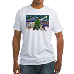 XmsMagic-GShep-2cats Fitted T-Shirt