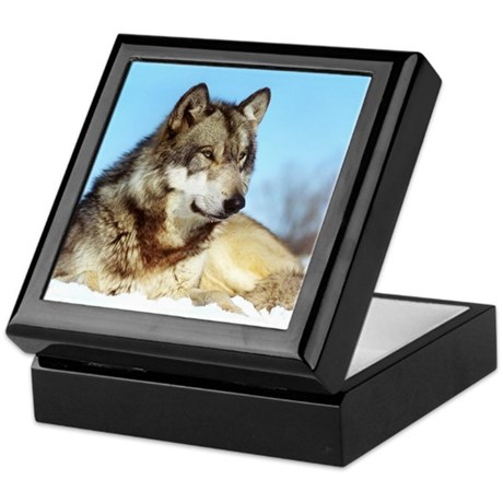 Tristan Wolf Keepsake Box
