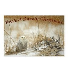 Snowy Owl Christmas Postcards (Package of 8)