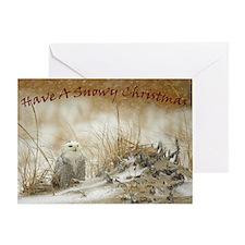 Snowy Owl Christmas Greeting Card