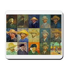 van Gogh Self Portraits Montage Mousepad