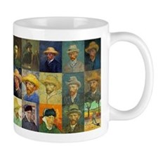 van Gogh Self Portraits Montage Small Mugs