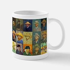 van Gogh Self Portraits Montage Small Mugs