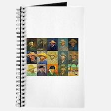 van Gogh Self Portraits Montage Journal