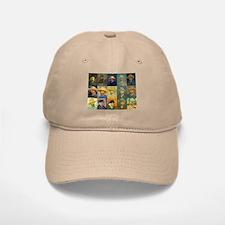 van Gogh Self Portraits Montage Baseball Baseball Cap