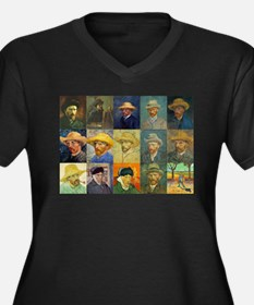 van Gogh Self Portraits Montage Women's Plus Size