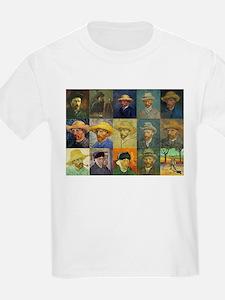 van Gogh Self Portraits Montage T-Shirt