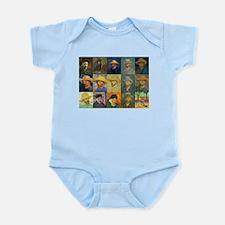 van Gogh Self Portraits Montage Infant Bodysuit