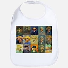 van Gogh Self Portraits Montage Bib