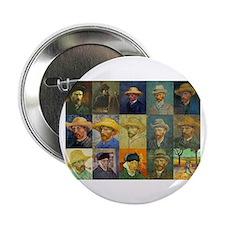 "van Gogh Self Portraits Montage 2.25"" Button"