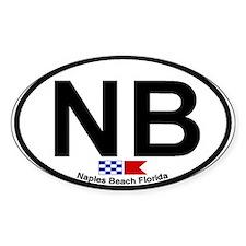 Naples Beach FL Oval Decal