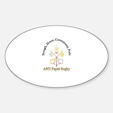 Papist Rugby Oval Sticker (10 pk)