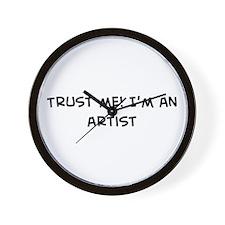 Trust Me: Artist Wall Clock