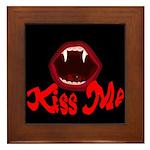 Kiss Me Framed Tile