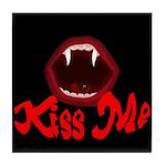 Kiss Me Tile Coaster