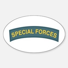 Special Forces Tab Oval Decal