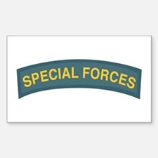 Special Forces Tab Rectangle Decal