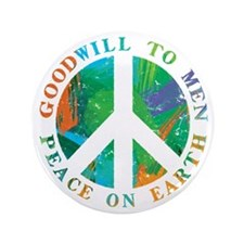 "Peace on Earth 3.5"" Button (100 pack)"