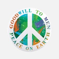 """Peace on Earth 3.5"""" Button (100 pack)"""