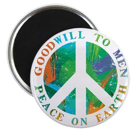 "Peace on Earth 2.25"" Magnet (100 pack)"