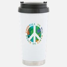Peace on Earth Stainless Steel Travel Mug