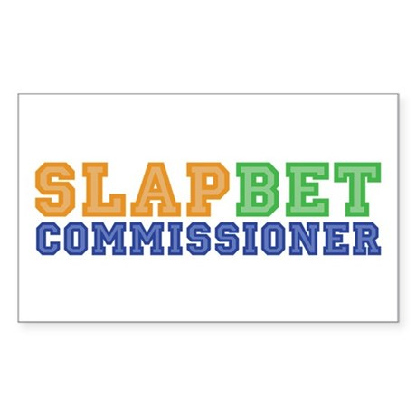 Slap Bet Commissioner Rectangle Sticker
