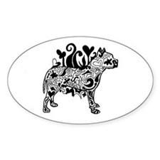 Tattoo Pit Oval Decal