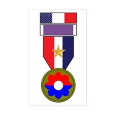 9th INF Purple Heart Recipient Rectangle Decal