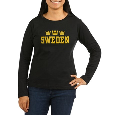 Sweden Women's Long Sleeve Dark T-Shirt