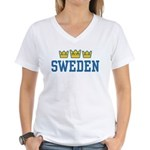 Sweden Women's V-Neck T-Shirt