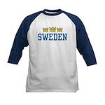 Sweden Kids Baseball Jersey