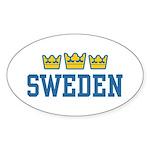 Sweden Oval Sticker