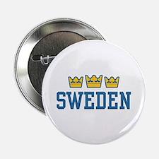 """Sweden 2.25"""" Button"""