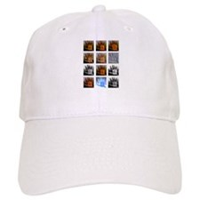 Collage of Left hands Baseball Cap