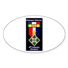 4th Infantry Division Veteran Oval Decal