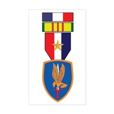 1st Aviation Vietnam Service Rectangle Decal
