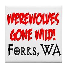 Werewolves Gone Wild Tile Coaster