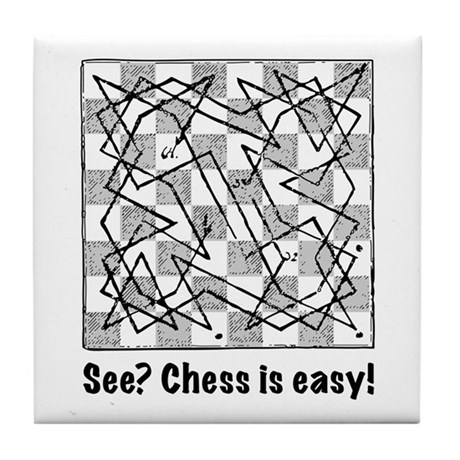 Chess is Easy! Tile Coaster