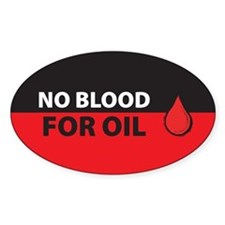 No Blood for Oil Oval Decal