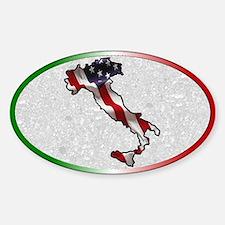 Italian American Oval Decal