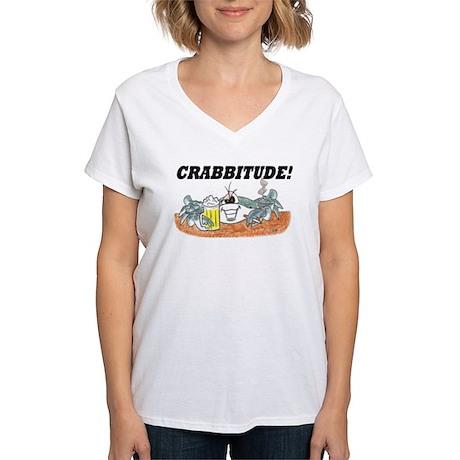 CRABBY Women's V-Neck T-Shirt