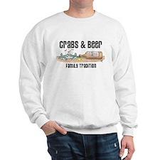 CRABS AND BEER Sweatshirt