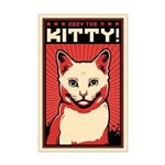 Obey the Kitty! White Cat Mini Poster Print