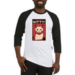 Obey the Kitty! WHITE CAT - Baseball Jersey