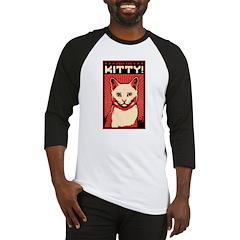 Obey the Kitty! WHITE CAT - Baseball Jersey