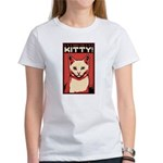 Obey the Kitty! White Cat - Women's T-Shirt