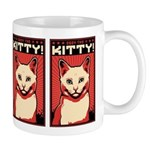 Obey the Kitty! WHITE CAT Propaganda Mug