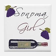 Sonoma Girl Tile Coaster