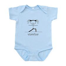 Warrior Yoga pose: Infant Bodysuit