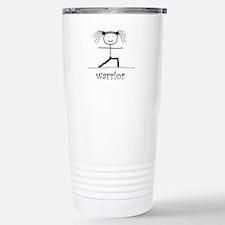 Warrior Yoga pose: Travel Mug